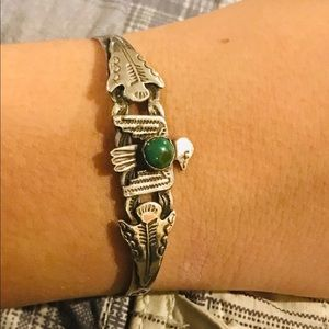 Jewelry - Vintage Southwestern Turquoise Cuff Bracelet